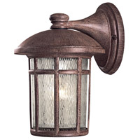 Cranston 1 Light 13 inch Vintage Rust Outdoor Wall Mount Lantern