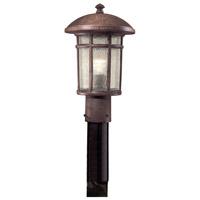 Minka-Lavery 8256-61 Cranston 1 Light 15 inch Vintage Rust Outdoor Post Mount Lantern The Great Outdoors