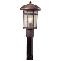 Cranston 1 Light 15 inch Vintage Rust Outdoor Post Mount Lantern