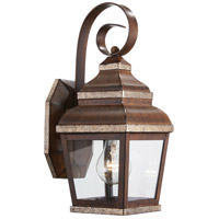 The Great Outdoors by Minka Mossoro 1 Light Outdoor Wall in Mossoro Walnut w/Silver Highlights 8261-161