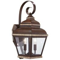 Minka-Lavery 8262-161 Mossoro 2 Light 18 inch Mossoro Walnut with Silver Highlights Outdoor Wall Light The Great Outdoors