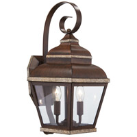 The Great Outdoors by Minka Mossoro 2 Light Outdoor Wall in Mossoro Walnut w/Silver Highlights 8262-161
