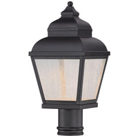 Mossoro LED 24 inch Black Outdoor Post Mount Lantern, The Great Outdoors