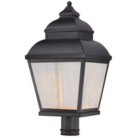 Mossoro LED 17 inch Black Outdoor Post Mount Lantern, The Great Outdoors