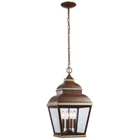 Mossoro 4 Light 12 inch Mossoro Walnut/Silver Outdoor Chain Hung Lantern