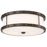 Minka-Lavery 827-103-L ML LED 6 inch Harvard Court Bronze/Liberty Flush Mount Ceiling Light