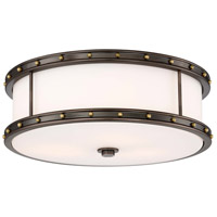 Minka-Lavery 827-103-L Signature LED 6 inch Harvard Court Bronze with Liberty Gold Flush Mount Ceiling Light