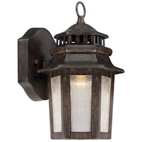 Wickford Bay LED 10 inch Iron Oxide Outdoor Wall Mount Lantern