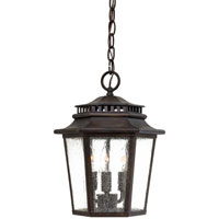 Wickford Bay 3 Light 10 inch Iron Oxide Outdoor Lighting in Incandescent