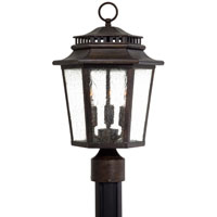 The Great Outdoors by Minka Wickford Bay 3 Light Post Light in Iron Oxide 8276-A357