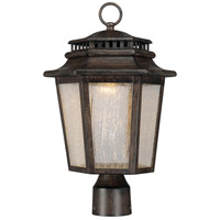 Wickford Bay LED 18 inch Iron Oxide Outdoor Post Mount Lantern