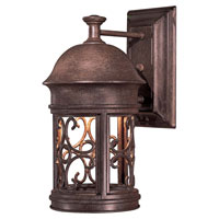 The Great Outdoors by Minka Sage Ridge 1 Light Wall Lamp in Vintage Rust 8281-A61