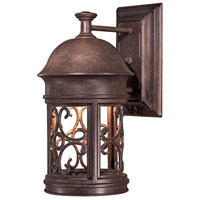 Sage Ridge 1 Light 13 inch Vintage Rust Outdoor Wall Mount Lantern
