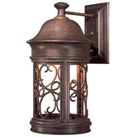 Sage Ridge 1 Light 16 inch Vintage Rust Outdoor Wall Mount Lantern