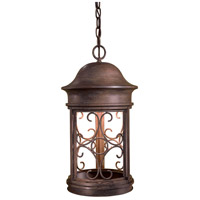 Sage Ridge 1 Light 11 inch Vintage Rust Outdoor Chain Hung Lantern