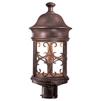 The Great Outdoors by Minka Sage Ridge 1 Light Post Light in Vintage Rust 8286-A61