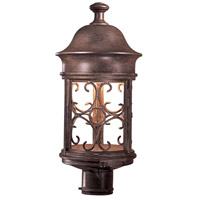 Sage Ridge 1 Light 19 inch Vintage Rust Outdoor Post Mount Lantern, The Great Outdoors