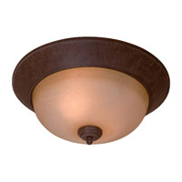 The Great Outdoors by Minka Sage Ridge 2 Light Flushmount in Vintage Rust 8289-61