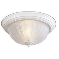 Minka-Lavery 829-86 Signature 2 Light 14 inch Textured White Flush Mount Ceiling Light