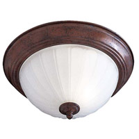 Minka-Lavery 829-91-PL Signature 2 Light 13 inch Antique Bronze Flush Mount Ceiling Light