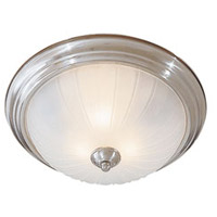 Minka-Lavery 830-84-PL Signature 3 Light 15 inch Brushed Nickel Flush Mount Ceiling Light