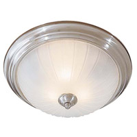 Minka-Lavery Signature 3 Light Flushmount in Brushed Nickel 830-84