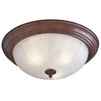 Signature 3 Light 15 inch Antique Bronze Flush Mount Ceiling Light