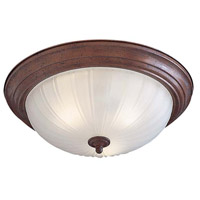 Minka-Lavery Signature 3 Light Flushmount in Antique Bronze 830-91