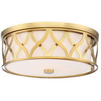 Minka-Lavery 840-249 Signature 3 Light 16 inch Liberty Gold Flush Mount Ceiling Light