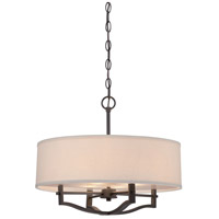 Signature 3 Light 19 inch Vintage Bronze Drum Pendant Ceiling Light