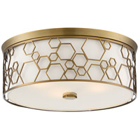 Minka-Lavery 845-108-L ML LED 17 inch Polished Satin Brass Flush Mount Ceiling Light