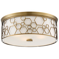 Minka-Lavery 845-108 Signature 4 Light 17 inch Polished Satin Brass Flush Mount Ceiling Light