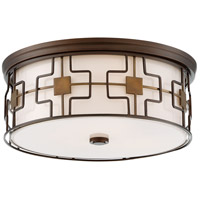 Minka-Lavery 846-104-L ML LED 16 inch Dark Brushed Bronze Flush Mount Ceiling Light in Dark Brushed Bronze with Aged Brass