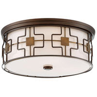 Minka-Lavery 846-104-L Signature LED 16 inch Dark Brushed Bronze with Aged Brass Flush Mount Ceiling Light