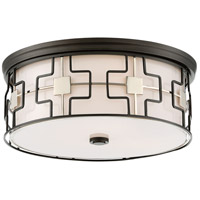 Minka-Lavery 846-105-L ML LED 16 inch Dark Gray/Polished Nickel Flush Mount Ceiling Light in Dark Gray with Polished Nickel