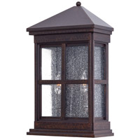 Berkeley 2 Light 18 inch Rust Outdoor Wall in Incandescent