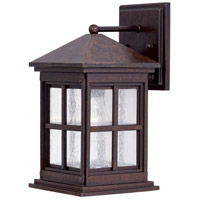 Berkeley 1 Light 12 inch Rust Chemical Outdoor Wall Mount Lantern