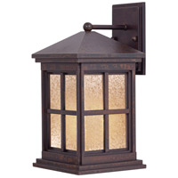 Berkeley 1 Light 17 inch Rust Outdoor Wall in GU24