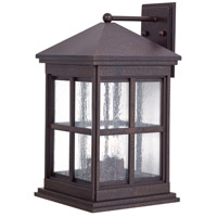 Berkeley 4 Light 19 inch Rust Chemical Outdoor Wall Mount Lantern