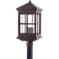 The Great Outdoors by Minka Berkeley 4 Light Post Mount in Rust 8566-51