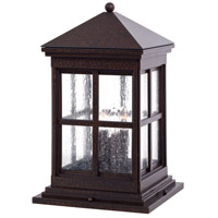Berkeley 4 Light 19 inch Rust Chemical Outdoor Pier Mount Lantern