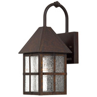 Townsend 1 Light 15 inch Rust Chemical Outdoor Wall Mount Lantern