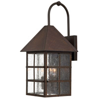 The Great Outdoors by Minka Townsend 3 Light Outdoor Wall in Rust 8582-51