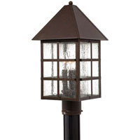 The Great Outdoors by Minka Townsend 3 Light Post Light in Rust 8586-51