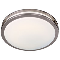 Minka-Lavery 860-84-PL Signature 2 Light 16 inch Brushed Nickel Flush Mount Ceiling Light photo thumbnail