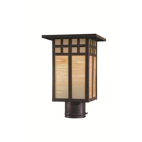 Minka-Lavery 8605-A179 Transitional 1 Light 13 inch Textured French Bronze Outdoor Post Great Outdoors