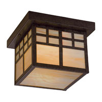 The Great Outdoors by Minka Scottsdale II 1 Light Flushmount in Textured French Bronze 8609-A179-PL