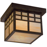 Scottsdale 1 Light 10 inch Textured French Bronze Outdoor Flush Mount