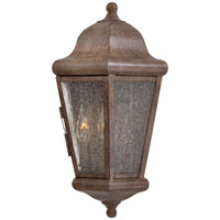 The Great Outdoors by Minka Taylor Court 2 Light Outdoor Pocket Lantern in Vintage Rust 8610-A61