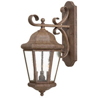 Taylor Court 3 Light 23 inch Vintage Rust Outdoor Wall Mount Lantern